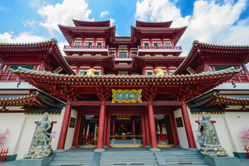 Keuken foto achterwand Temple The Buddha Tooth Relic Temple, Singapore