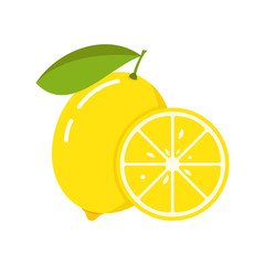 Lemon icon. Vector illustration