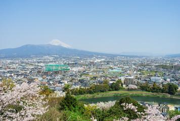 本城山公園展望台から見た風景