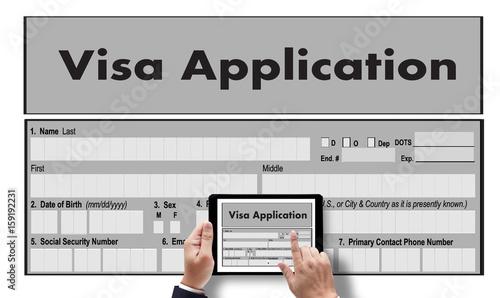 work visa application employment recruitment to work businessman