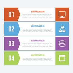 Flat Infographics Elements 03