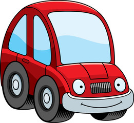 Smiling Cartoon Car
