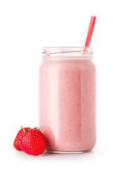 Spoed Fotobehang Milkshake milkshake in jar