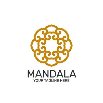 Yellow Mandala Pattern Logo