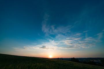 Sunset, sunrise sky panorame
