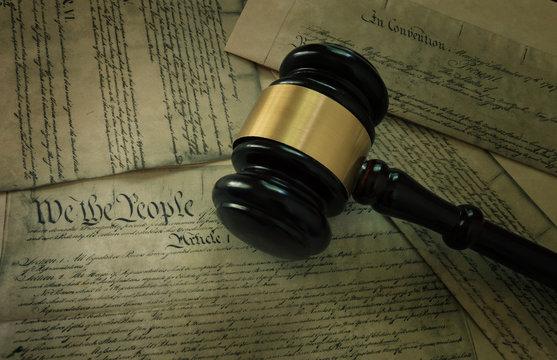 Gavel on America's Constitution