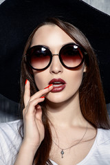 stylish sunglasses portrait