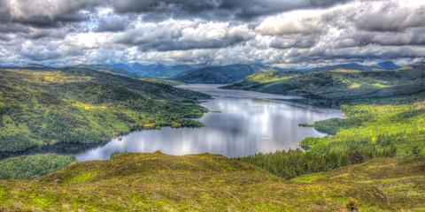 Beatiful view of Loch Katrine, Trossachs NP, Scotland