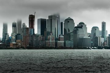 new york city on rainy overcast day