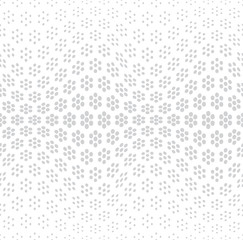 geometric seamless floral halftone vector pattern