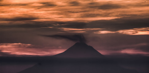 Merapi Volcano Twilight