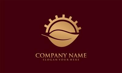 sun leaf gold logo