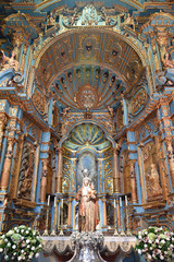 Autel baroque à la cathédrale de Lima au Pérou