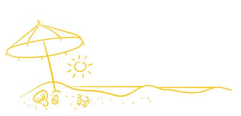 Strandszene mit Sonne