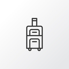 Baggage Icon Symbol. Premium Quality Isolated Luggage Element In Trendy Style.