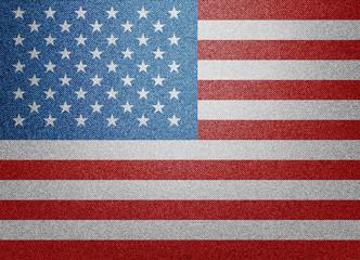 textile USA flag illustration