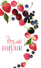 Berry mix falling banner