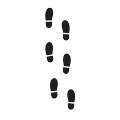 Trail of shoe print. Step by step sign icon. Footprint shoes symbol. Vector illustration