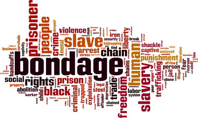 Bondage word cloud