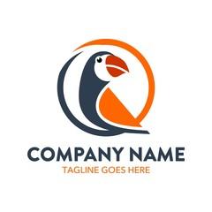 Unique Parrot Logo Template