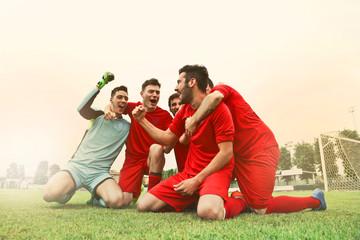 Jubilant teammates