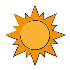 sun draw illustration vector design graphic icon
