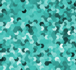 Abstract retro background - isometric multi-colored shapes (camouflage) in vector