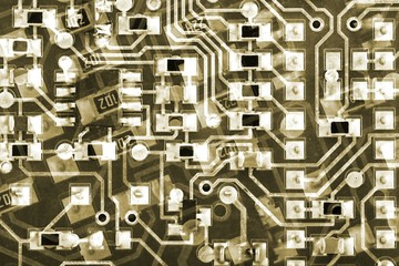 Circuit Boards Background pattern