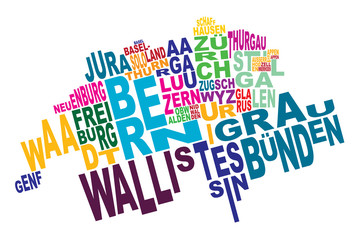 cantons of Switzerland word cloud