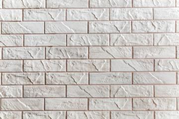 Vintage white tiled wall