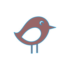 bird icon over white background colorful design vector illustration