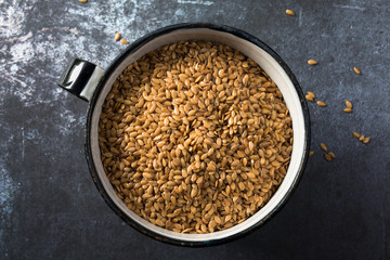 A cup of flaxseeds
