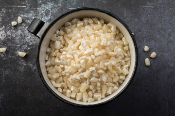 A cup of hominy