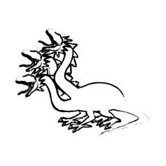 hydra mythological creature monster serpents vector illustration