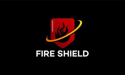 Modern Fire Shield logo template designs