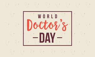 World doctor day card style collection