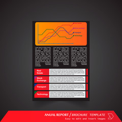 Anual Report , Brochure Template - page 11