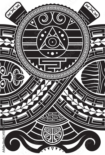 Aztec style pattern. Ethnic print template for textile and paper ...