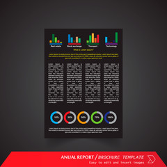 Anual Report , Brochure Template - page 17