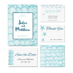 Wedding invitation, thank you, save the date, baby shower, menu, information, RSVP.