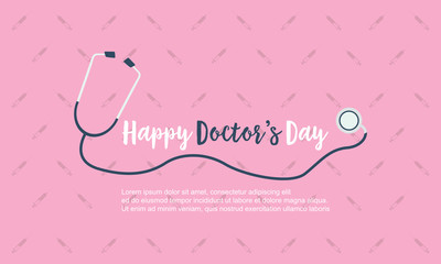 Happy doctor day background card style