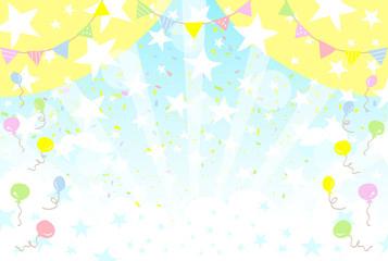 青空 スター 紙吹雪 風船