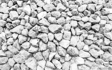 big white gravel or rock texture background, construction and building concept