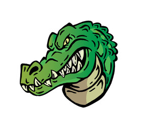 Leadership Animal Head Logo - Crocodile Character