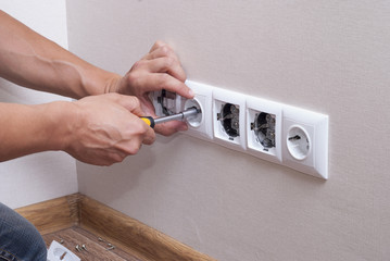 installation of electrical sockets