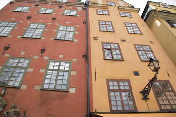Facade in Stortorget Square; Old Town - Gamla Stan; Stockholm
