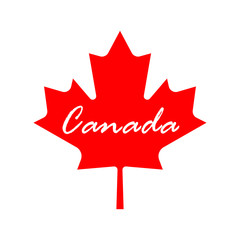 canada flag leaf icon