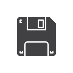 Floppy disk icon vector, filled flat sign, solid pictogram isolated on white. Save symbol, logo illustration. Pixel perfect