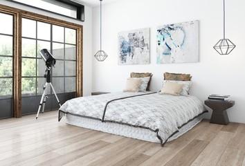 Minimalist design bedroom concept