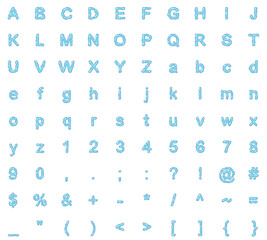 typeface design water